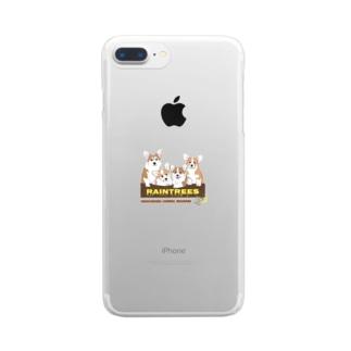 Raintrees corgis Clear smartphone cases