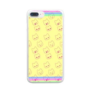 ねこねこ Clear smartphone cases