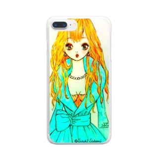 ドレスアップ Clear smartphone cases