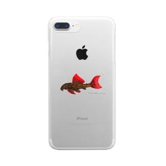 ウルトラスカーレットトリムプレコ Clear smartphone cases