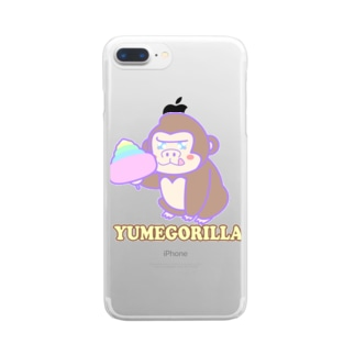 YumeGorilla(ゆめごりら)グッズ クリアスマートフォンケース