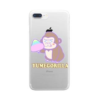 YumeGorilla(ゆめごりら)グッズ Clear smartphone cases
