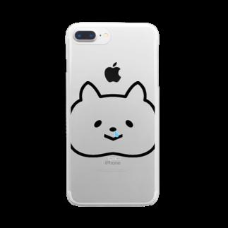 ラキフルの鼻タレねこ Clear smartphone cases