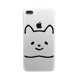 鼻タレねこ Clear smartphone cases