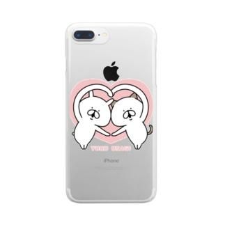ゆるうさぎ ラブ Clear smartphone cases