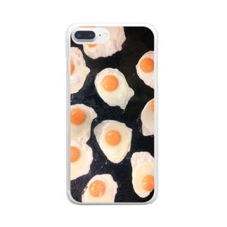 卵卵卵焼き クリアスマートフォンケース