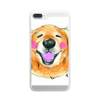 私の犬 Clear smartphone cases