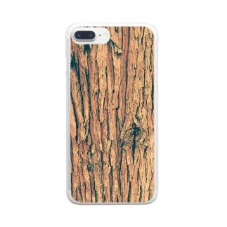 スギ樹皮 Clear smartphone cases