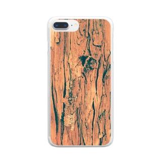 ヒノキの樹皮 Clear smartphone cases