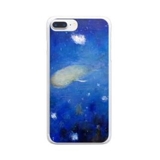ムラナギ/雪夜のしじま Clear smartphone cases