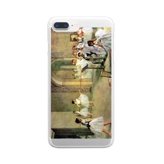 ドガ「オペラ座の稽古場(ル・ペルティエ街のオペラ座のバレエ教室、踊りの審査)」 Clear smartphone cases