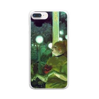ドガ「カフェ・コンソール(犬の歌)」 Clear smartphone cases