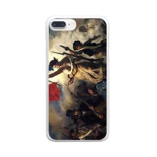 ドラクロワ「民衆を率いる自由の女神」 Clear smartphone cases