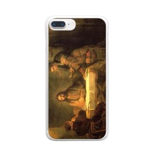 レンブラント「エマオの晩餐」 Clear smartphone cases
