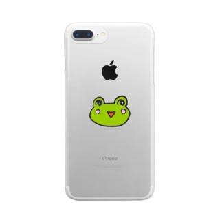 かえるのなおたろう Clear smartphone cases