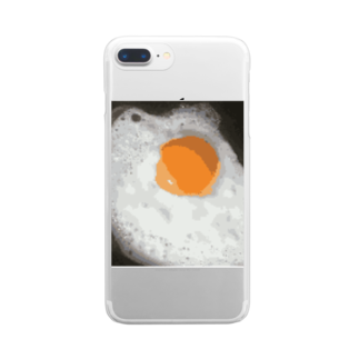 SHOPの目玉焼き.png Clear smartphone cases