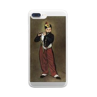 マネ「笛を吹く少年」 Clear smartphone cases