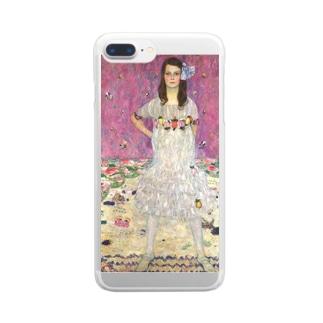 クリムト「メーダ・プリマヴェージの肖像」 Clear smartphone cases