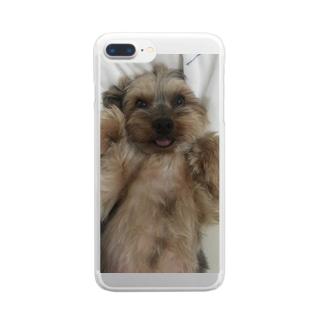 あきらほわわ〜ん Clear smartphone cases