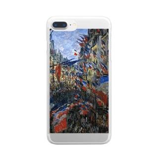 モネ「サン・ドニ街、1878年6月30日の祝日」 Clear smartphone cases