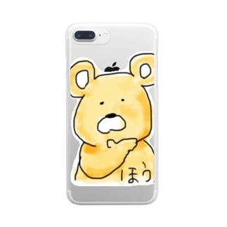 完全に論破される熊 Clear smartphone cases