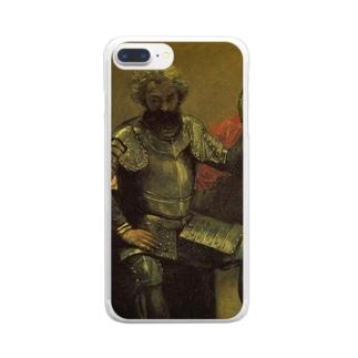コロー「鎧を着て座る男」 Clear smartphone cases