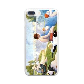 スーラ「アニエールの水浴」 Clear smartphone cases