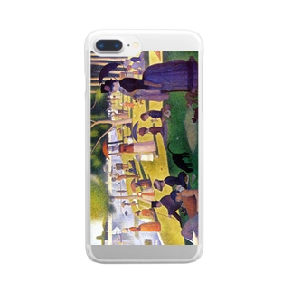 スーラ「グランド・ジャット島の日曜日の午後」 Clear smartphone cases