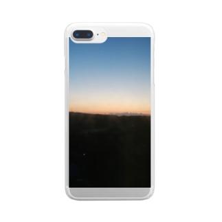 夜焼け Clear smartphone cases