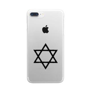 六芒星 Clear smartphone cases