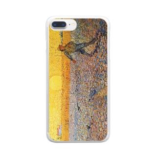 ゴッホ「種まく人」 Clear smartphone cases