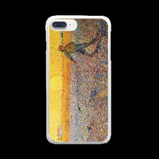 名画スマホケース・オンラインストア【クラウド】のゴッホ「種まく人」 Clear smartphone cases