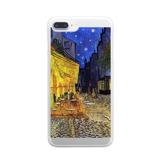 ゴッホ「」 Clear smartphone cases