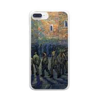ゴッホ「刑務所の中庭」 Clear smartphone cases