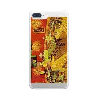 ゴッホ「夜のカフェ」 Clear smartphone cases