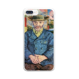 ゴッホ「タンギー爺さんの肖像」 Clear smartphone cases