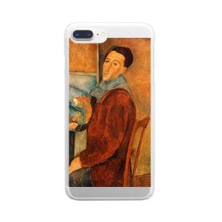 モディリアーニ「自画像」 Clear smartphone cases