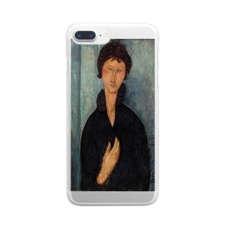 モディリアーニ「青い目の女」 Clear smartphone cases
