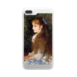 ルノアール「イレーヌ・カーン・ダンヴェール嬢」 Clear smartphone cases