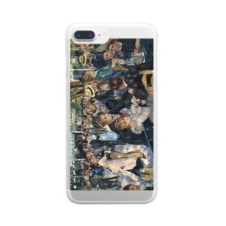 ルノアール「ムーラン・ド・ラ・ギャレットの舞踏場」 Clear smartphone cases