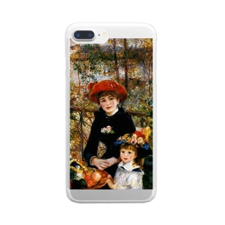 ルノアール「テラスにて」 Clear smartphone cases