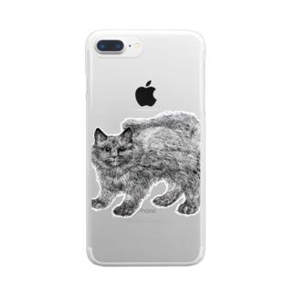 ふわふわの仔猫 Clear smartphone cases