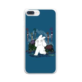 五月雨きくらげちゃん Clear smartphone cases