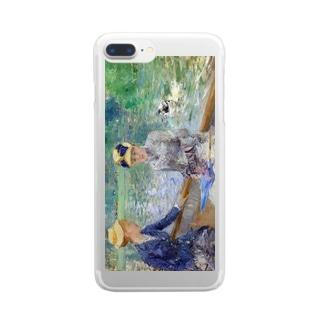 モリゾ「夏の日」 Clear smartphone cases