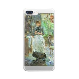 名画スマホケース・オンラインストア【クラウド】のモリゾ「食堂にて」 Clear smartphone cases