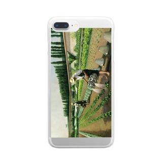 カイユボット「庭師」 Clear smartphone cases