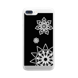 Rin shopの雪の華 Clear smartphone cases