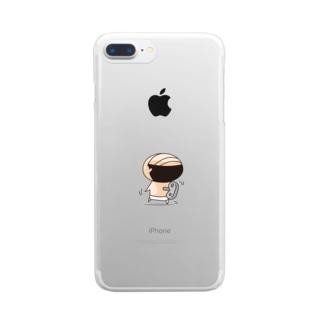 ブリーフおじさん「ねじ式」 Clear smartphone cases