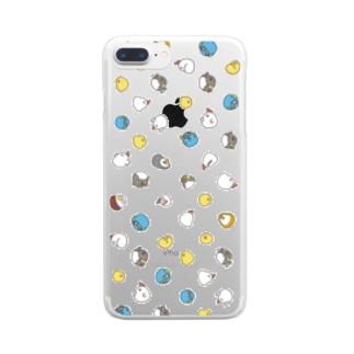 散らばり鳥 Clear smartphone cases