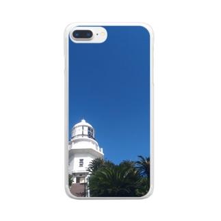 夏の灯台 Clear smartphone cases